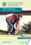 Libro de Intervención Con Familias De Personas Con Discapacidad. Ssce0111