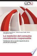 Libro de La Medicion Del Consumo Socialmente Responsable