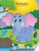 Libro de Elefantes Libro Para Colorear 1