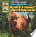 Libro de Apatosaurus/apatosaurio