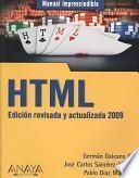 Libro de Html. Edición Revisada Y Actualizada 2009