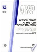 Libro de Applied Ethics At The Turn Of The Millenium