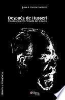 Libro de Después De Husserl