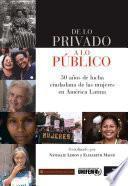 Libro de De Lo Privado A Lo Público