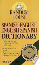 Libro de Random House Spanish English English Spanish Dictionary