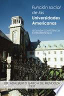 Libro de Función Social De Las Universidades Americanas