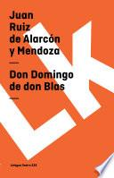 Libro de Don Domingo De Don Blas