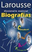 Libro de Diccionario Esencial Biografías