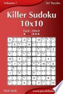 Libro de Killer Sudoku 10×10   De Fácil A Difícil   Volumen 7   267 Puzzles