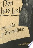 Libro de Don Luis Leal