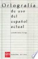 Libro de Ortografía De Uso Del Español Actual