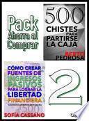 Libro de Cómo Crear Fuentes De Ingresos Pasivos Para Lograr La Libertad Financiera & 500 Chistes Para Partirse La Caja