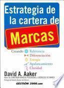 Libro de Estrategia De La Cartera De Marcas