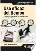 Libro de Uso Eficaz Del Tiempo