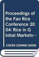 Libro de Proceedings Of The Fao Rice Conference 2004
