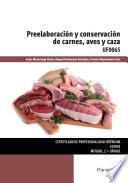 Libro de Uf0065   Preelaboración Y Conservación De Carnes, Aves Y Caza