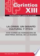 Libro de La Crisis, Un Desafío Cultural Y ético