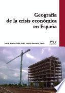Libro de Geografía De La Crisis Económica En España