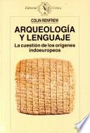 Libro de Arqueología Y Lenguaje