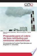 Libro de Propuesta Para El Cobro De Tasa Retributiva Por Emisiones Atmosféricas
