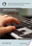 Libro de Aplicaciones Informáticas De Tratamiento De Textos. Adgn0108   Financiación De Empresas