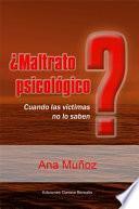 Libro de ¿maltrato PsicolÓgico