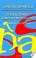 Libro de 25 Análisis Sintácticos De Oraciones Simples