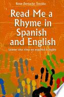 Libro de Léame Una Rima En Español E Inglés