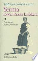 Libro de Yerma; Doña Rosita La Soltera