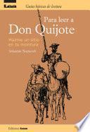 Libro de Para Leer A Don Quijote, Hazme Un Sitio En Tu Montura