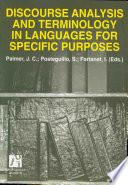 Libro de Discourse Analyisis And Terminology In Languages For Specific Purposes/ Analisis Del Discurso Y Terminologia Del Lenguage Para Fines Especificos