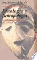 Libro de Diccionario Akal De Etnología Y Antropología
