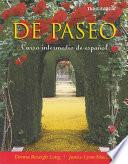 Libro de De Paseo: Curso Intermedio De Espanol