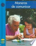 Libro de Maneras De Comunicar