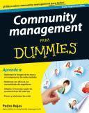 Libro de Community Management Para Dummies