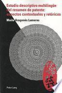 Libro de Estudio Descriptivo Multilingue Del Resumen De Patente