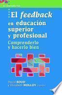 Libro de El Feedback En Educación Superior Y Profesional