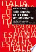 Libro de Italia España En La Epoca Contemporanea