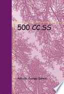 Libro de 500 Cc.ss