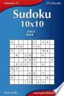 Libro de Sudoku 10×10   Difícil   Volumen 11   276 Puzzles