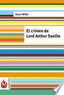 Libro de El Crimen De Lord Arthur Saville (low Cost). Edición Limitada