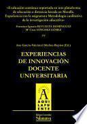 Libro de Evaluación Continua Soportada En Una Plataforma De Educación A Distancia Basada En Moodle. Experiencia Con La Asignatura Metodología Cualitativa De La Investigación Educativa