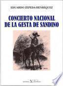 Libro de Concierto Nacional De La Gesta De Sandino