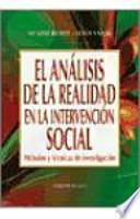 Libro de El Análisis De La Realidad En La Intervención Social