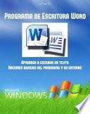 Libro de Manual De Programa De Escritura Word