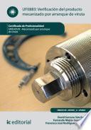 Libro de Verificación Del Producto Mecanizado Por Arranque De Viruta. Fmeh0109