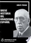 Libro de Breve Historia Del Krausismo Español