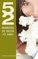 Libro de 52 Maneras De Decir Te Amo