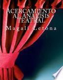 Libro de Acercamiento Al Análisis Teatral