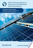 Libro de Montaje Eléctrico Y Electrónico De Instalaciones Solares Fotovoltaicas. Enae0108